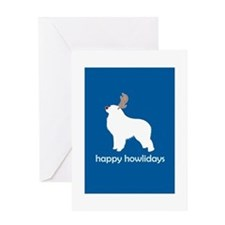 Cute Great pyrenees christmas Greeting Card