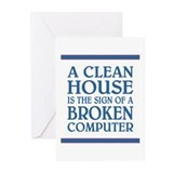 A CLEAN HOUSE IS... Greeting Cards (Pk of 20)