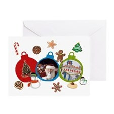 Las Vegas Christmas Ornaments Cards (Pk of 20)