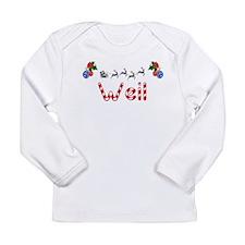 Weil, Christmas Long Sleeve Infant T-Shirt