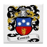 Conrad Coat of Arms Tile Coaster
