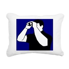 Birding is Fun! Icon Rectangular Canvas Pillow