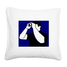 Birding is Fun! Icon Square Canvas Pillow