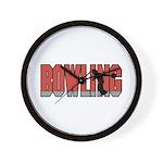 Bowling Nuts Wall Clock