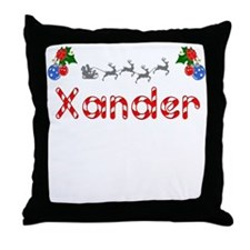 Xander, Christmas Throw Pillow