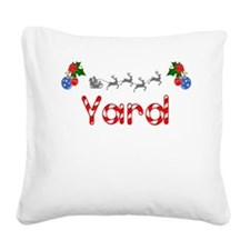 Yard, Christmas Square Canvas Pillow