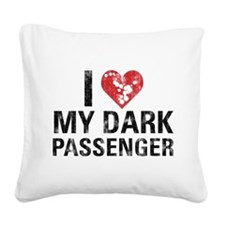 darkpass.png Square Canvas Pillow