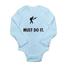 Pickleball Long Sleeve Infant Bodysuit