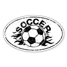 Soccer Flames Decal