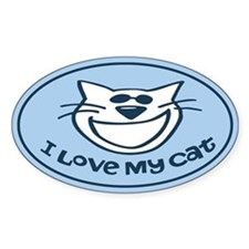I Love My Cat Auto Decal