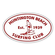 Huntington Beach Surfing Club Auto Decal