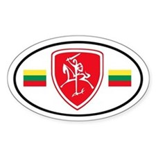 Red Vytis Bumper Stickers