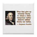 Franklin on Freedom Tile Coaster
