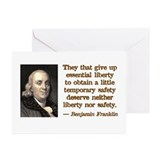 Franklin on Freedom Greeting Cards (Pk of 10)