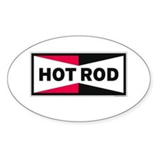 HOT ROD LOGO Rectangle Decal