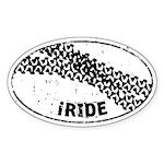 I Ride Auto Sticker (Oval)