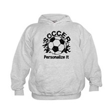 Personalized Soccer Flames Hoodie