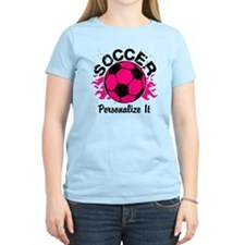 Personalized Soccer Flames T-Shirt