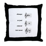 Always b Sharp Throw Pillow