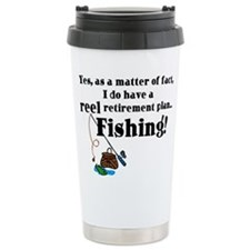 Reel Retirement Plan Ceramic Travel Mug