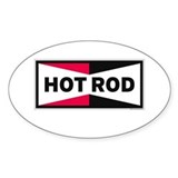 HOT ROD LOGO Rectangle Bumper Stickers