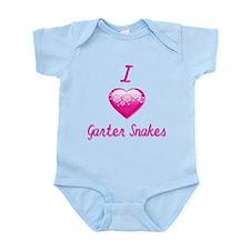 I Love/Heart Garter Snakes Infant Bodysuit
