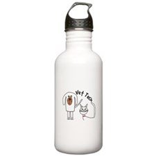 Vet Tech dog and cat.PNG Water Bottle
