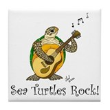 Sea Turtles Rock Tile Coaster