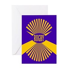 Rugby Spokes Gold Purple Greeting Card