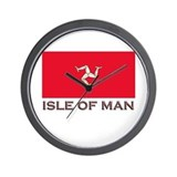 Flag of The Isle Of Man Wall Clock