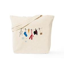 Snowman Clothing Tote Bag