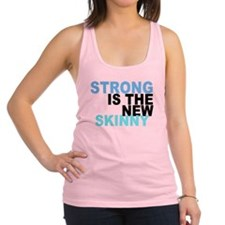 Strong is the New Skinny - Blue Racerback Tank Top
