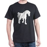Clydesdale Horse Black T-Shirt