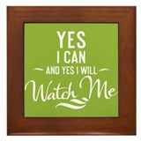 Yes I Can - Framed Tile