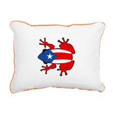 Puerto Rico - PR - Coqui Rectangular Canvas Pillow