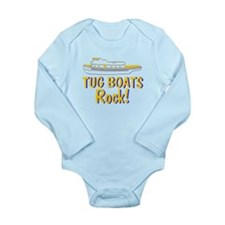 Tug Boats Rock Long Sleeve Infant Bodysuit
