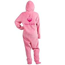 I Love/Heart Finnish Spitz Footed Pajamas