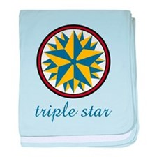 Triple Star baby blanket