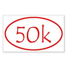Red Ultra Marathon Distance 50 Kilometer Sticker S