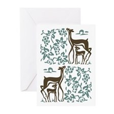 Deer in Vineyard Batik Greeting Cards (Pk of 10)