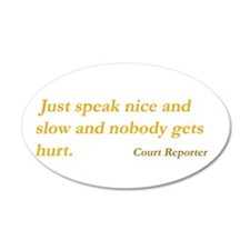 Court reporter Wall Decal