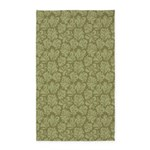 Flourish Leaves OliveGreen 3'x5' Area Rug