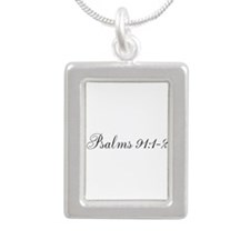 Cute Psalm Silver Portrait Necklace