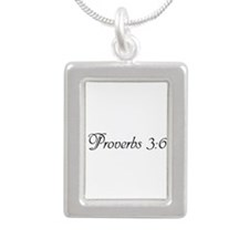 Funny Proverbs 3 Silver Portrait Necklace