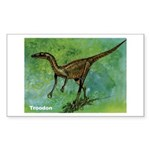 Troodon Dinosaur Rectangle Sticker