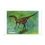 Troodon Dinosaur Mini Poster Print