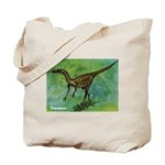 Troodon Dinosaur Tote Bag