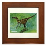 Troodon Dinosaur Framed Tile