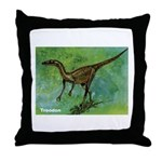 Troodon Dinosaur Throw Pillow