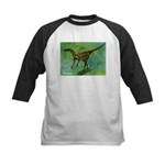 Troodon Dinosaur Kids Baseball Jersey